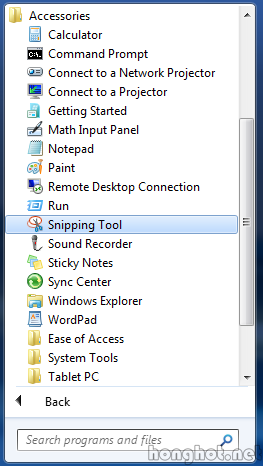 phan mem Sniping tool tren win7