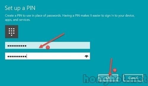 Tạo mật khẩu trên Win 10