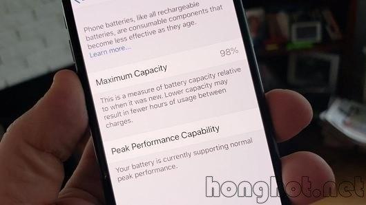 Kiểm tra độ chai pin của iphone trên IOS 11.3
