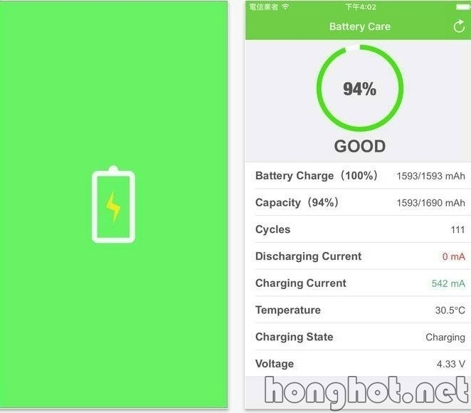 Phần mềm Battery Care