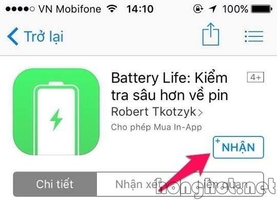 Sủ dụng phần mềm Battery Life để kiểm tra độ chai pin của iphone
