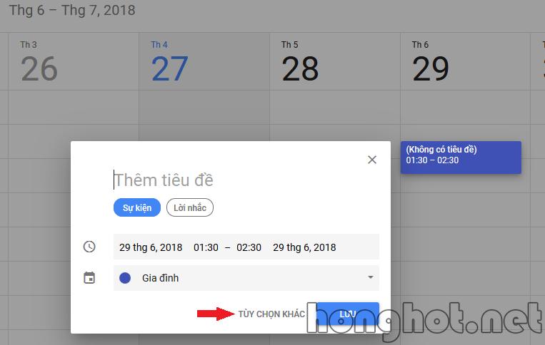 tao event google calendar