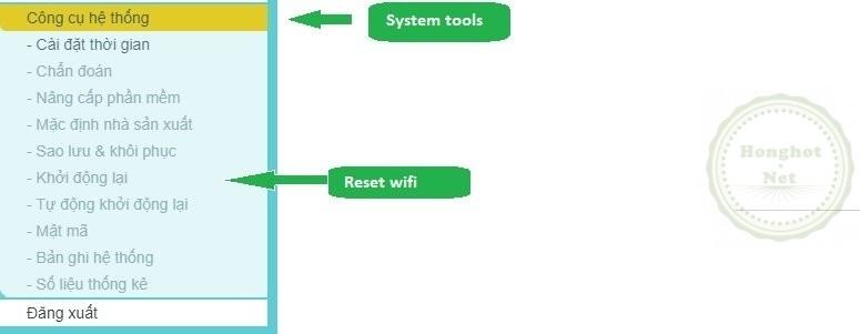 reset wifi tplink