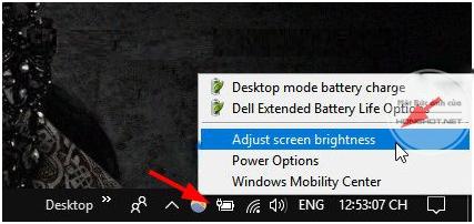 Ajust screen brightness