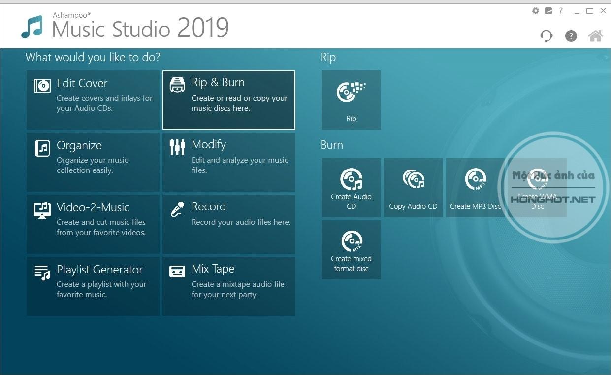 Phần mềm Ashampoo Music Studio