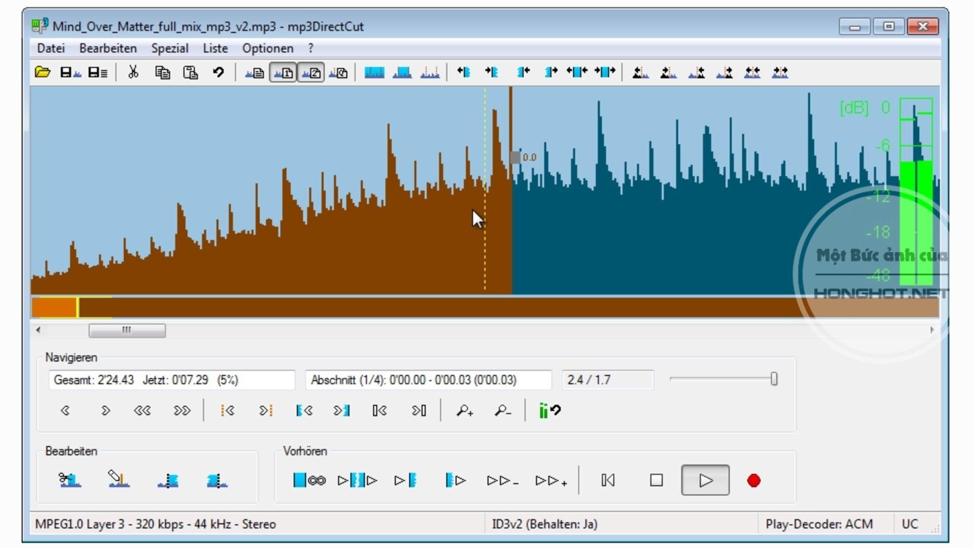Phần mềm Mp3DirectCut