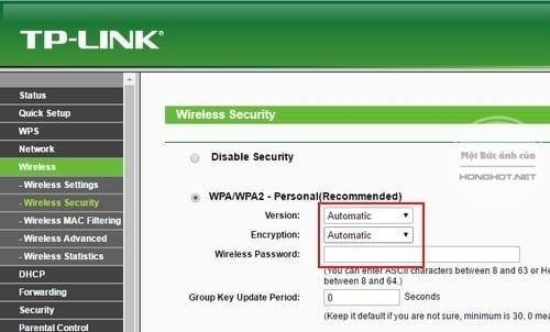 Các thao tác trên dòng router TP Link