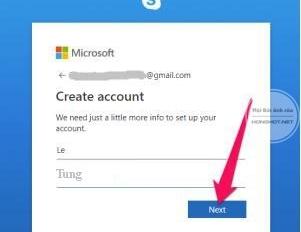 Cách đăng ký tạo tài khoản skype miễn phí trên máy tính