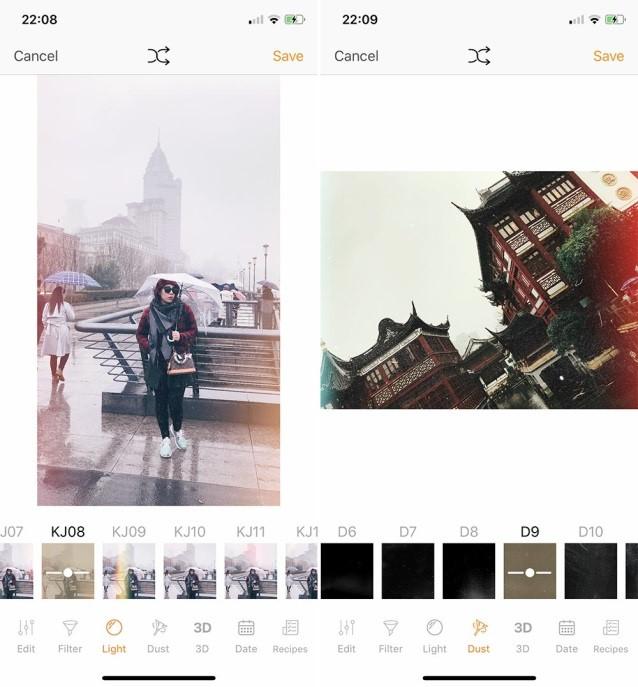 Top 8 app chỉnh ảnh màu Film nhiễu hạt, có vết xước miễn phí đẹp nhất