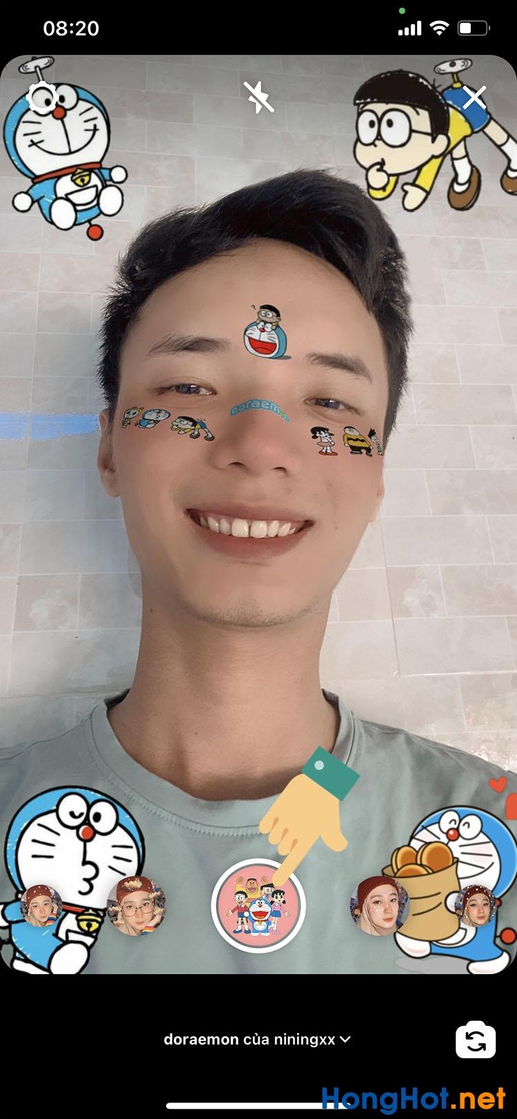 Cách chụp ảnh quay video có hiệu ứng Doraemon trên Instagram TikTok 8