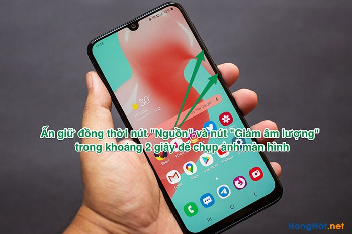 Cách chụp màn hình Samsung A20, A20s