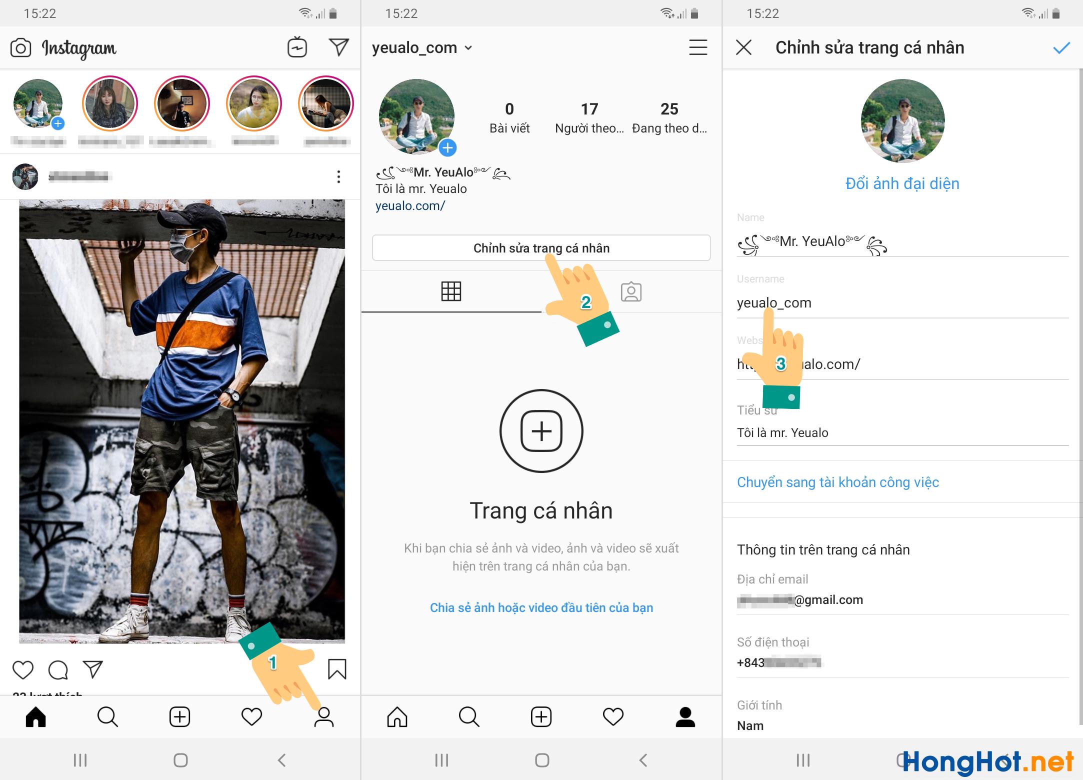 Cách lấy link instagram của mình trên điện thoại