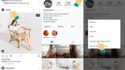 Cách lấy link instagram trên điện thoại