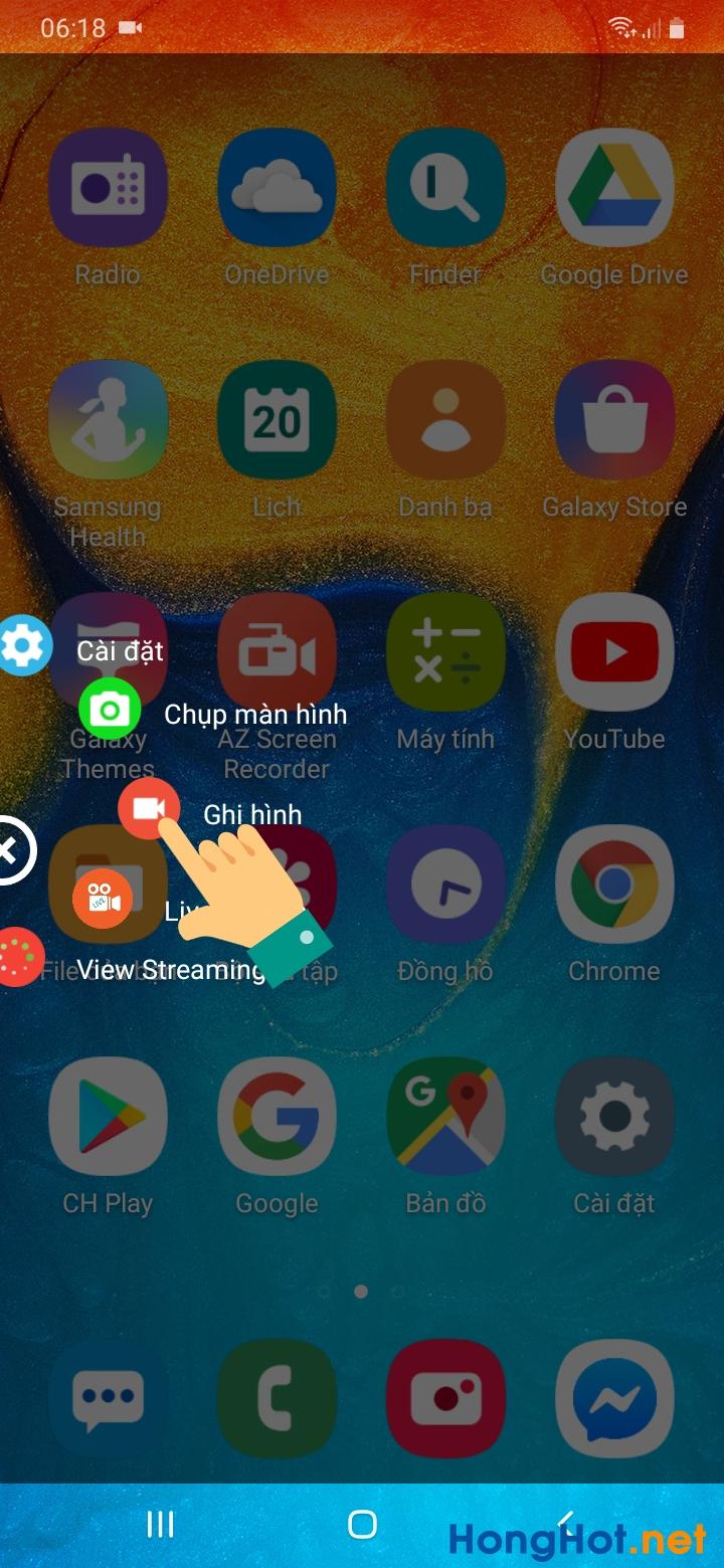 Cách quay màn hình Samsung 2
