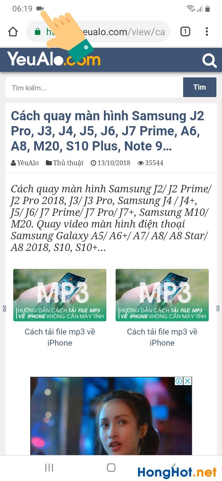 Cách quay màn hình Samsung 4