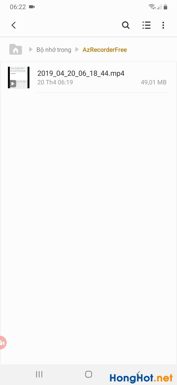 Cách quay màn hình Samsung 7