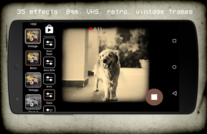 App quay, chỉnh video màu Vintage, Retro cho điện thoại tốt nhất